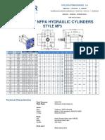 Nfpa Hydraulic Cylinder Mf5 Style