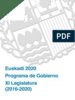 Programa Gobierno XI Legislatura