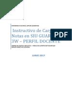 Instructivo de Carga de Notas en SIU GUARANI 3W JUNIO 2017