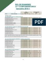 Rol de Exámenes Fianles y Complementarios 2018-1[1129]