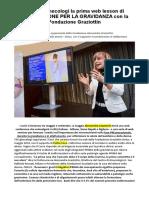 Fondazione Graziottin Onlus La Prima Web Lesson Di INTEGRAZIONE PER LA GRAVIDANZA