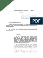EC Unificação Das Policias Militares e Civis Brasileiras