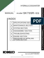 Sk70sr-1es Shop Manual
