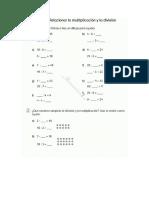 Relacionar La Multiplicacion Con La Division