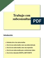 sub consultas
