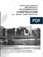 Materiales y Procedimientos de Construcción
