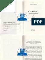 E. Lovinescu, Scepticul Mantuit. Vol. 1 2 - Eugen Simion