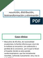 Absorción, Distribución, Biotransformación y Eliminación Cocaina