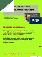 4.4.- Manejo Del Personal. Presentacion