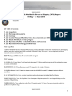 U. S. Navy Office of Naval Intelligence Worldwide Threat to Shipping (WTS) Report 14 May - 13 June 2018