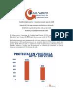 Conflictividad Social en Venezuela Mayo 2018