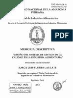 Diseño Del Sistema de Gestión de La Calidad en La Industria Alimentaria.