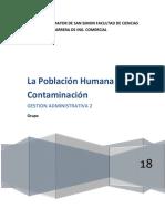 Poblacion Humana y La Contaminacion Formato