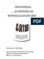 Manual de reparación reproductor mp3 y mp4