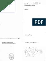 Brecht, Bertolt – Schriften Zum Theater I, GW Bd.15