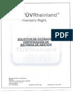 Formulario Cotizacion TUV