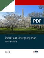 2018 Heat Emergency Plan