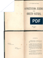 Direito Natural e Positivismo Jurídico- JOSÉ GALVÃO de SOUZA