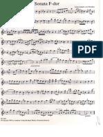 Anna Amalia von Preussen - Sonata F-Dur - für Flöte und Klavier - Flöte Solo
