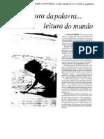 Leitura Da Palavraleitura Do Mundopdf