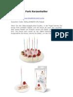 Fork Kerzenhalter De