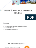 9 Product & Price Policies