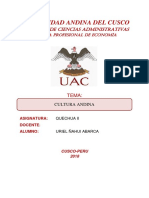 Informe Cultura Andina