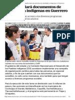 15-06-2017 Campaña Dará Documentos de Identidad a Indígenas en Guerrero.