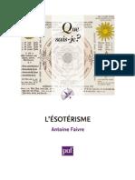 Antoine Faivre - Que s'ai je L'Ésotérisme.pdf