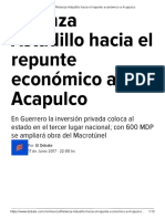 17-06-2017 Relanza Astudillo Hacia El Repunte Económico a Acapulco.