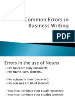 Unit 1 Common Errors in Business Writing