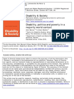 Barnes y Sheldon (2010) Disability Politcs and Poverty in a Majority World Context