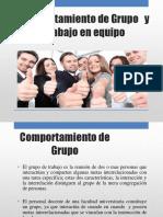 Comportamiento de Grupo y de Equipo