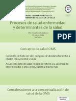 1.1 Procesos de Salud-Enfermedad y Determinantes