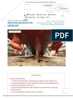 Scope of Dry-docking, Inspection & Repair Carried Out