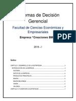 TRABAJO de SISTEMAS - GRUPO 2 (Creaciones BMS) (1) Matriz Perfil Competittivo