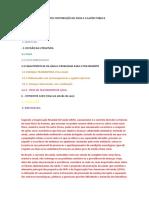 SISTEMAS DE TRATAMENTO E DISTRIBUIÇÃO DE ÁGUA E A SAÚDE PÚBLICA