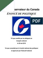 Policy Declaration FR
