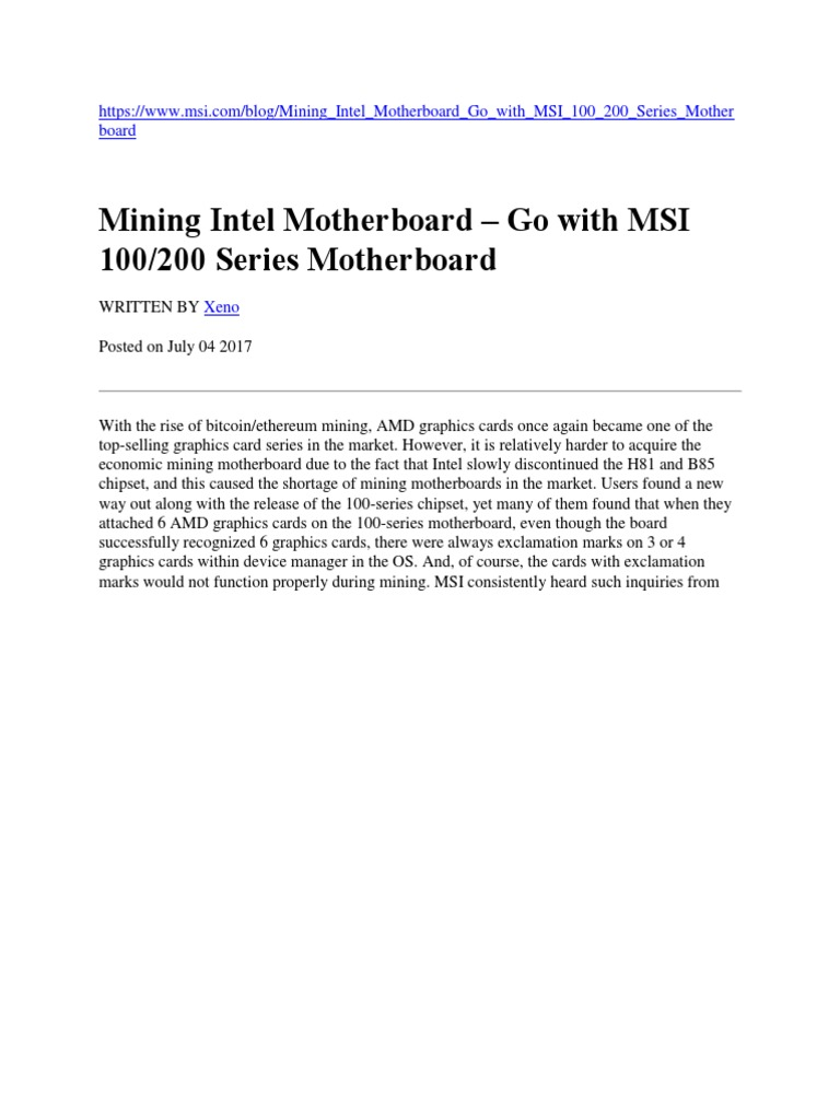 Mining Motherboard | Bios | Booting