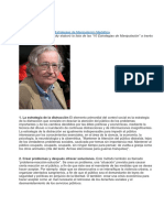 Estrategias de Manipulacion Noam Chomsky