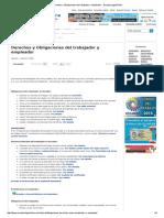 Derechos y Obligaciones Del Trabajador y Empleador « EcuadorLegalOnline