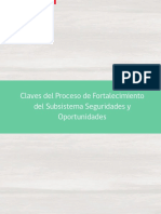 Claves Del Proceso de Fortalecimiento Del Subsistema de Seguridades y Ooprtunidades