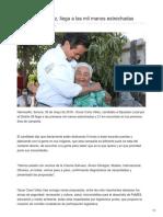 30-05-2018 Óscar Cano Vélez llega a las mil manos estrechadas en el Distrito 9