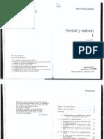 Gadamer, Hans-Georg - Verdad y Método vol. 1