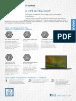 ThinkPad X1 Carbon 5th Gen Datasheet En
