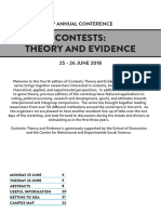 Contests - Theory and Evidence 2018