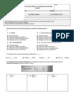 Evaluación Unidad 2 Parte 3 Matemáticas Septimo Básico