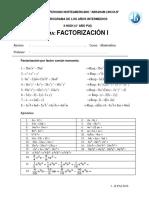 1 Factorización II Pai - Jjts