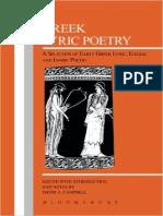 (Greek Texts) David a. Campbell (Ed.,Ann.)-Greek Lyric Poetry-Bristol Classical Press (1991)