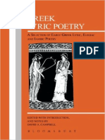 (Greek Texts) David a. Campbell (Ed.,Ann.)-Greek Lyric Poetry-Bristol Classical Press (1991)